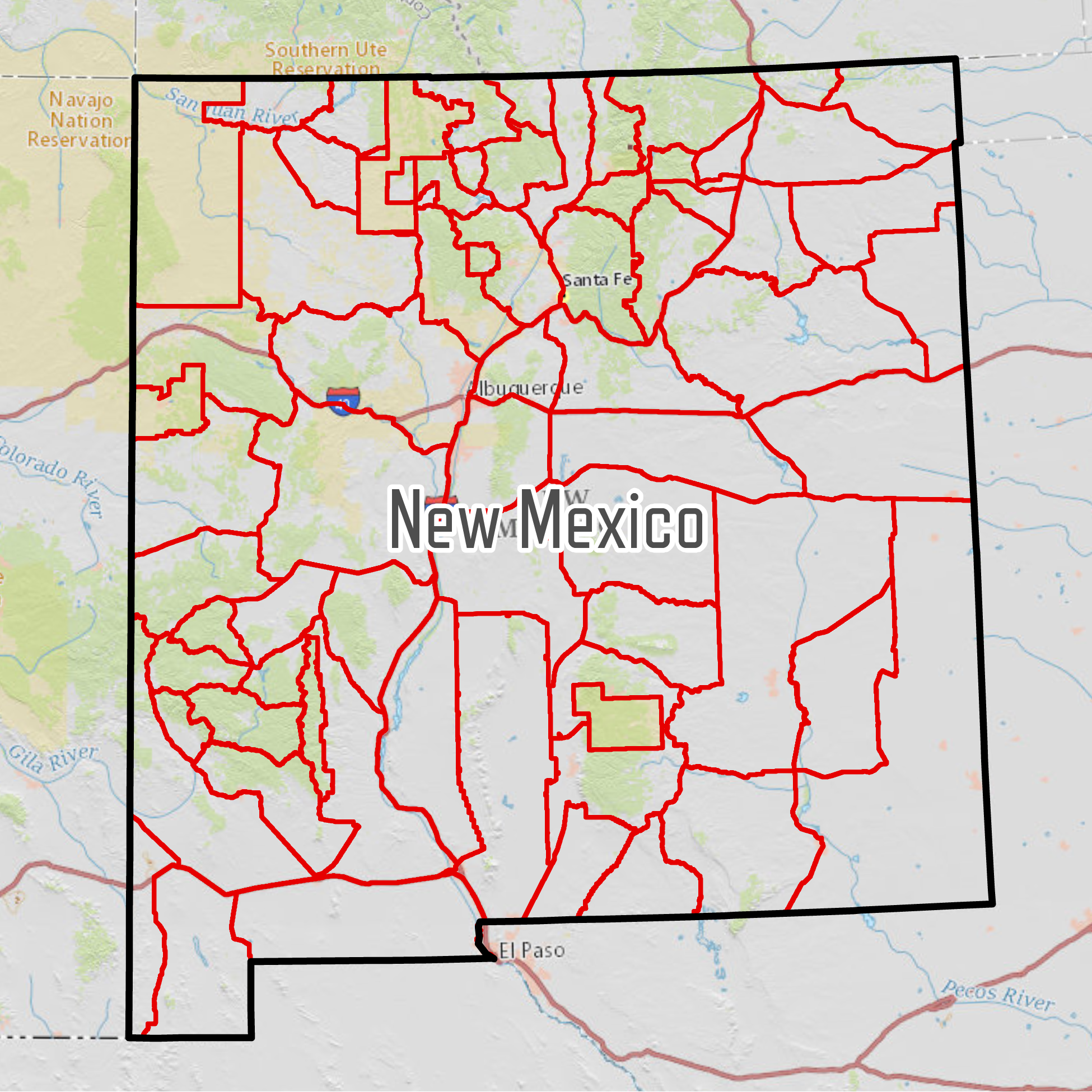 New Mexico Hunting Maps – Game Planner Maps | Hunting Maps, Hunting ...